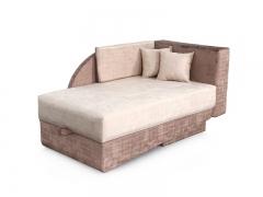 Диван-кровать Джеки-2 Вариант 1 Бежево-коричневый