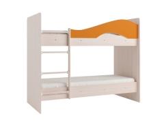 Двухъярусная кровать Мая дуб оранжевый