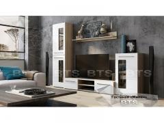Гостиная Милан сонома-белый глянец