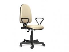 Кресло офисное Престиж Люкс gtpPN Z21 кожзам бежевый
