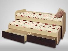 Кровать 2-х ярусная выкатная Антошка венге
