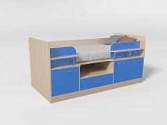 Кровать-чердак Уголок школьника № 7 синий
