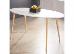 Стол обеденный ST 005 овальный белый